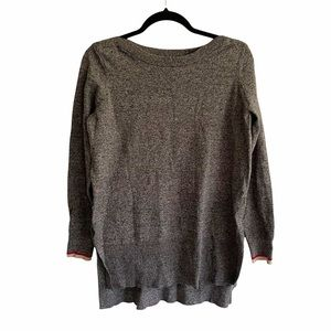 ROOTS Cabin Cotton Blend Boat Neck Long Sweater M